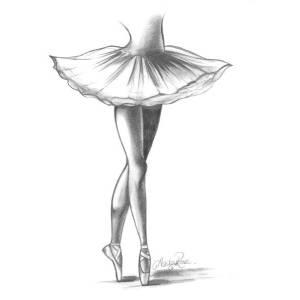 אילוסטרציה צביטה אחורית רקדנית בלט